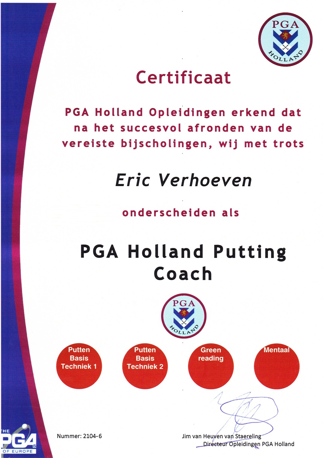 putting coach website versie