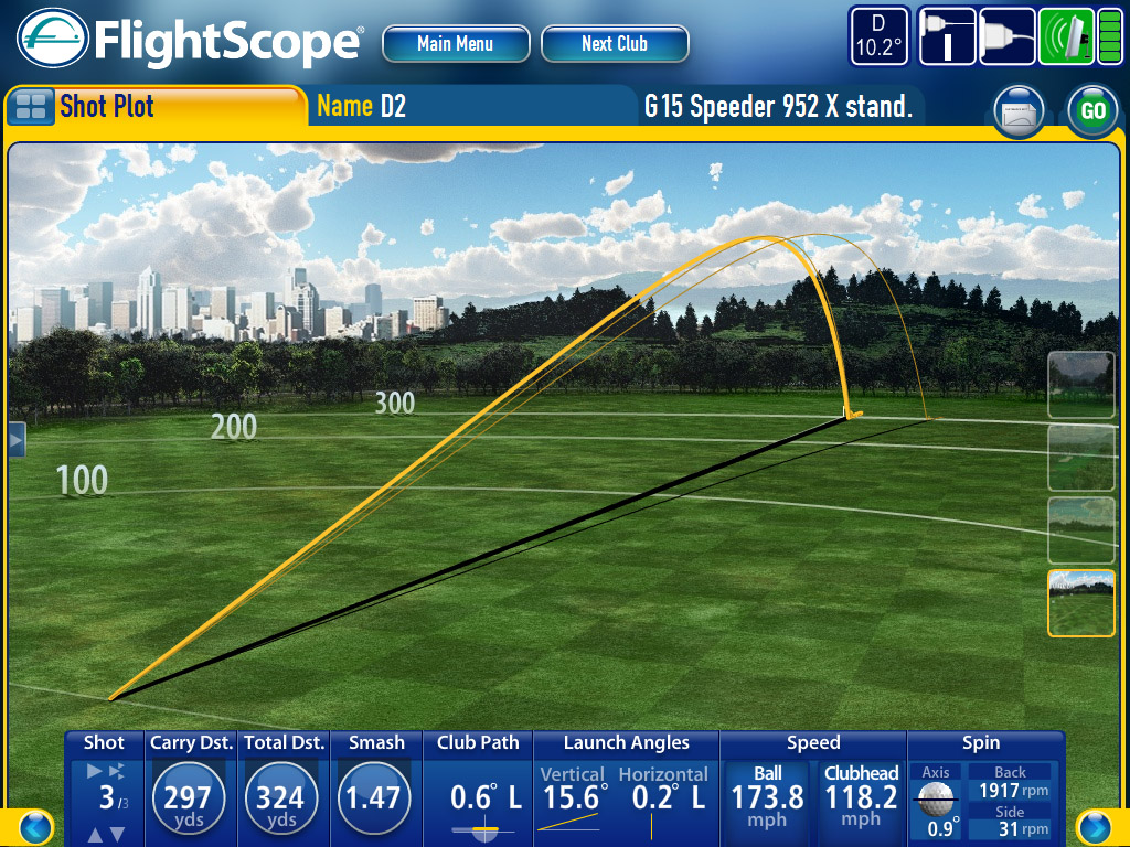 Flightscope swing analyse